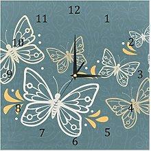 BestIdeas Butterfly Pattern Silent Quartz Wall