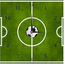 BestIdeas Football Soccer Green Grass Field Silent