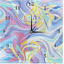 BestIdeas Pastel Pink Blue Abstract Marble Pattern