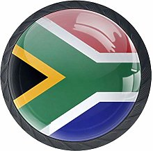 BestIdeas South Africa Flag Round Drawer Knobs
