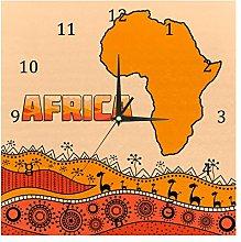 BestIdeas Wall Clocks African Map With Tribal