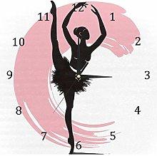 BestIdeas Wall Clocks Ballerina Ballet Girl