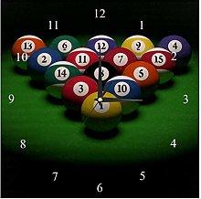 BestIdeas Wall Clocks Billiards Ball With Numbers