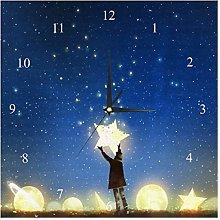 BestIdeas Wall Clocks Boy Moon Star In Starry