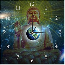 BestIdeas Wall Clocks Buddha and Earth Battery