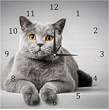 BestIdeas Wall Clocks Cat Lying On The Table