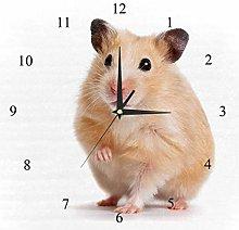 BestIdeas Wall Clocks Cute Hamster Battery
