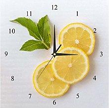 BestIdeas Wall Clocks Fresh Lemon Slices Battery