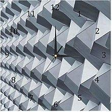 BestIdeas Wall Clocks Grey Battery Operated Number