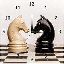 BestIdeas Wall Clocks Internation Chess Game