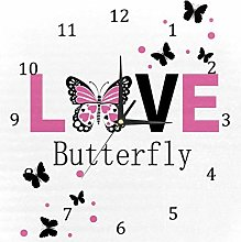 BestIdeas Wall Clocks Love Butterfly Battery