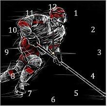 BestIdeas Wall Clocks Rink Ice hockey player