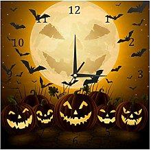 BestIdeas Wall Clocks Spooky Halloween Night