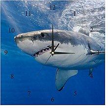 BestIdeas Wall Clocks Underwater Danger Shark