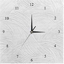 BestIdeas Wall Clocks White Painted Wall Battery