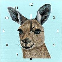 BestIdeas Wall Clocks Wild Australian Kangaroo