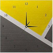 BestIdeas Wall Clocks Yellow White And Grey