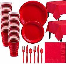 Bestomrogh 142pcs Disposable Tableware Set,Party