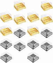 BESTonZON 100PCS Clear Plastic Mini Cake Box