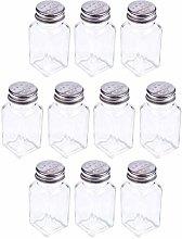 BESTONZON 10PCS Glass Spice Jar Bottle Seasoning