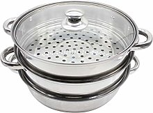 BESTONZON 28cm Stainless Steel Soup Pots with