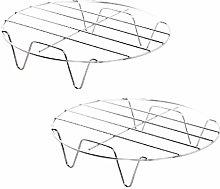BESTONZON 2pcs Steamer Rack Trivet for Round