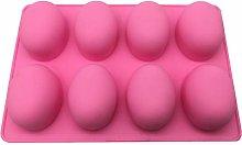BESTONZON 8 Cavities Oval Egg Shape Silicone Mold