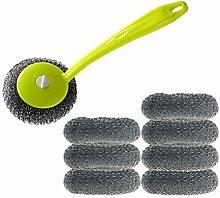 BESTONZON 8pcs Steel Wire Balls Brush with Plastic
