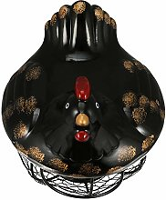 BESTonZON Metal Mesh Egg Basket Ceramic Egg