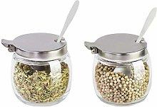 BESTONZON Spice Jar Sugar Bowl with Lid and Spoon