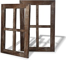 BESTOOL Rustic Wall Decor Window Barnwood Frames