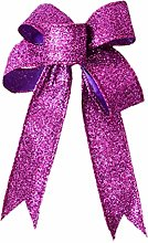 BESTOYARD Christmas Glitter Bow Ornaments DIY Bow