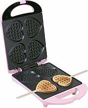 Bestron Heart-Shaped Waffle Maker 780W Pink