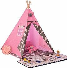 BESTSOON Kids Teepee Tent Kids Tipi Pink Tent Play