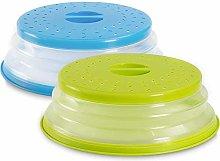 BESTZY 2PCS Collapsible Plastic Microwave Plate