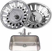 BESTZY 2PCS Kitchen Sink Strainer, Stainless Steel
