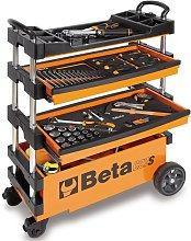 Beta Tools Collapsible Tool Trolley C27S-O Orange