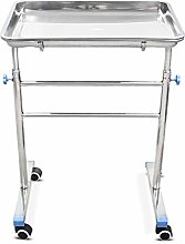 BETIME Mobile Mayo Tray Stand Stainless Steel