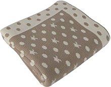 Betires Home Blanket Baby Beige 90x 90cm