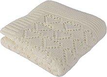Betires Home Blanket Baby Ecru 90x 90cm