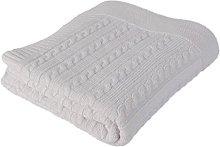 Betires Home Blanket Baby White 90x 90cm