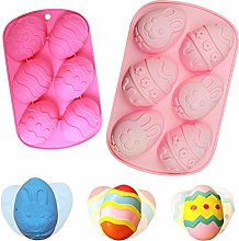 BETOY 2PCS Easter Egg Mould Silicone Soap Mold