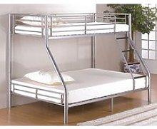 Betoya Twin Sleeper Metal Bunk Bed In Silver