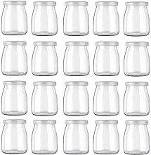 Betrome 7 OZ Yogurt Jars Pudding Jar with Lid