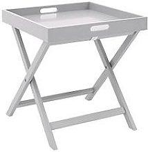 Betsy Folding Tray Table - Grey