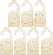 BETTE 7 Pieces Baby Closet Dividers Size Dividers