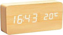 BETTE Digital Wooden Clock - Multifunction LED