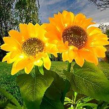 BETTE Outdoor Solar Lights Flower, 2 packs LED