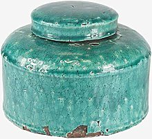 Better & Best Large Low Canister, Blue, Crackle