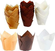 BetterLife 150 Rooms Tulip Cooking Paper Cups,